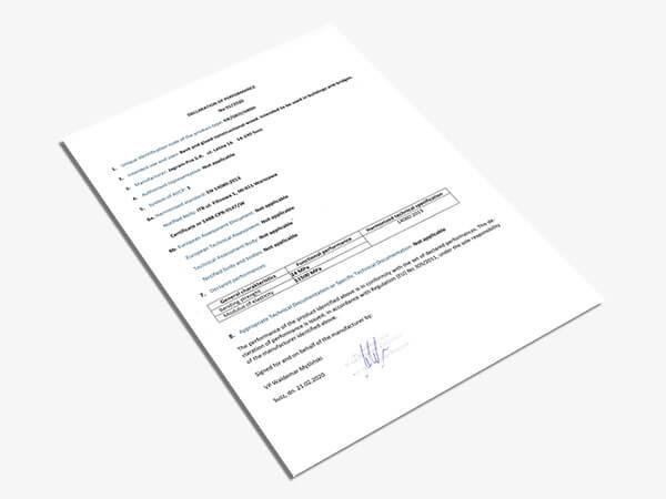 Declaración de propiedad